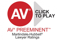 AV Preeminent Martindale-Hubbell Lawyer Rating